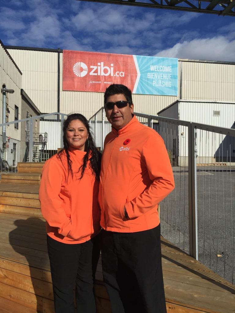 Wanda Thusky and Andrew Decontie at Zibi